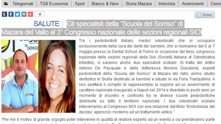 """La """"Scuola del Sorriso"""" al 3° Congresso nazionale SIOI"""